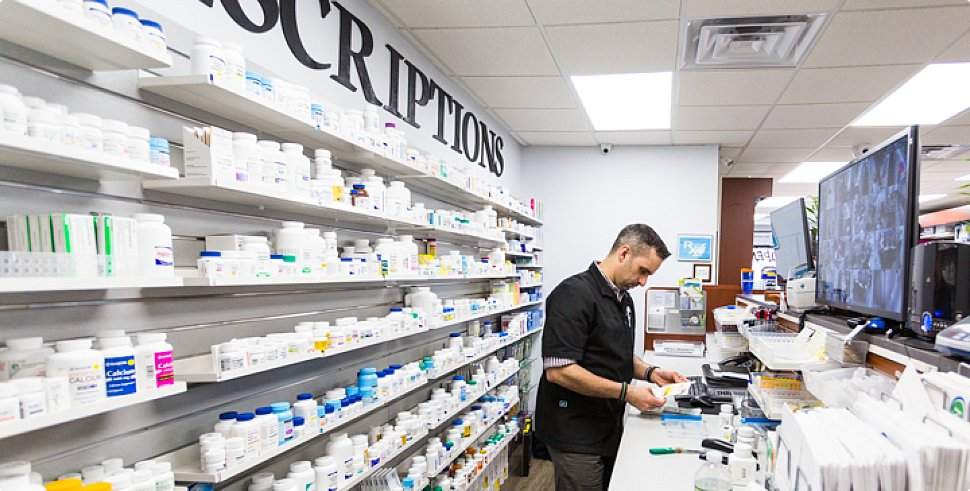 Pharmacist in the store