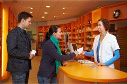 customers in pharmacy